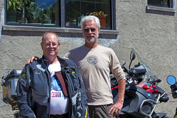 Jim and Helge At Touratech USA